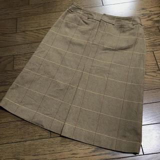 マカフィー(MACPHEE)のマカフィートゥモローランド チェック柄膝下台形スカート(ひざ丈スカート)