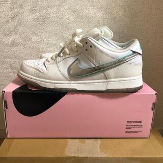 ナイキ(NIKE)のnikesb dunklow diamondsupply white 27(スニーカー)