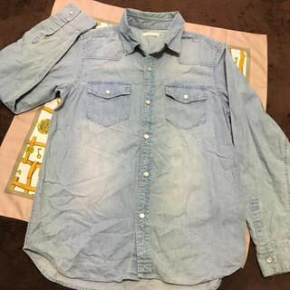 ジーユー(GU)のダンガリーシャツ 150(ブラウス)