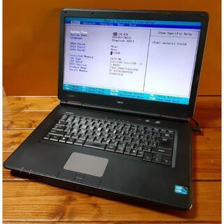 エヌイーシー(NEC)の♪NEC VersaPro VJ24LX-B(コジマモデル)ジャンク(部品取り)(ノートPC)
