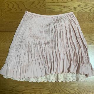 モルガン(MORGAN)のモルガン♡プリーツピンクスカート(ひざ丈スカート)