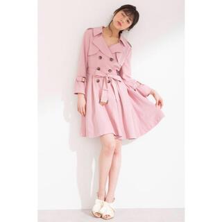 ジルバイジルスチュアート(JILL by JILLSTUART)の美品♡ ジルバイジルスチュアート ドレス  トレンチコート ピンク(トレンチコート)