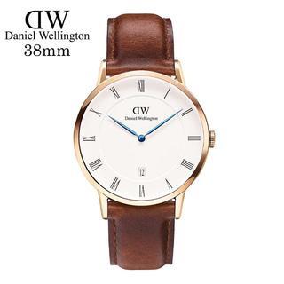 ダニエルウェリントン(Daniel Wellington)のDanielWellingtonピンクゴールド腕時計1100DW38mm【青針】(腕時計(アナログ))