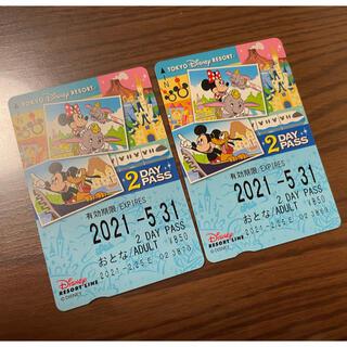 ディズニー(Disney)のディズニーリゾートライン 2DAYPASS(その他)