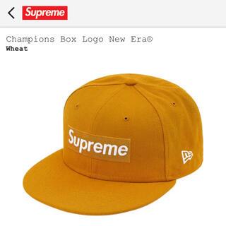 シュプリーム(Supreme)のChampions Box Logo New Era wheat 7 3/8(キャップ)
