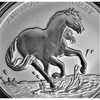 ブランビーホース 1ドル リバースプルーフ銀貨、2020 オーストラリア