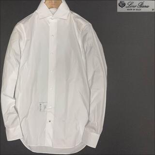 ロロピアーナ(LORO PIANA)のJ4018 新品 ロロピアーナ ドレスシャツ ホワイト 37 カッターシャツ(シャツ)
