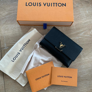 LOUIS VUITTON - 『正規品』ルイヴィトン ポルトフォイユ カプシーヌ コンパクト三つ折財布