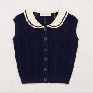 Caramel baby&child  - Misha and puff textured scout vest ネイビー