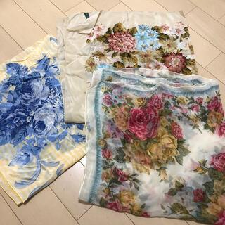 花柄スカーフ3点セット(バンダナ/スカーフ)