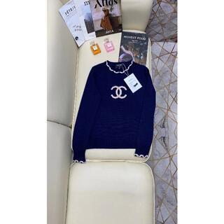 CHANEL - 21春夏♪◆CHANEL◆カシミヤプルオーバー セーター CCロゴ