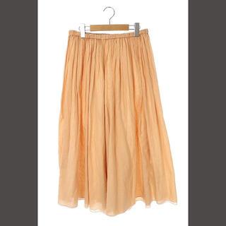 Drawer - ドゥロワー Drawer ロングギャザースカート シルク混 オレンジ /KN ■