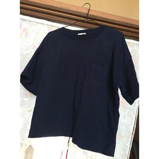 ジーユー(GU)のショート丈Tシャツ(Tシャツ(長袖/七分))