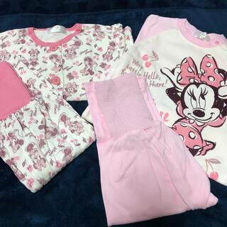 Disney - ミニーマウス 腹巻付きパジャマ 2枚セット