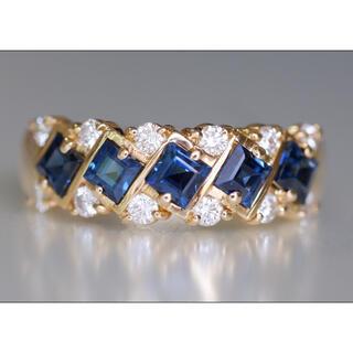 K18 ミキモト サファイア 1.13ct ダイヤモンド 0.32ct リング