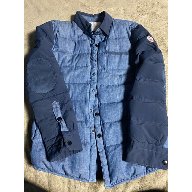 MONCLER(モンクレール)のモンクレール MONCLER ダウン シャツ ジャケット ブルゾン インディゴ メンズのジャケット/アウター(ダウンジャケット)の商品写真