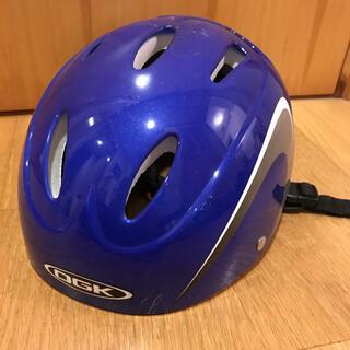 オージーケー(OGK)の【美品】OGK☆KIDS-X2 自転車用ヘルメット (ブルー)(自転車)