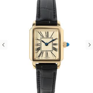 Demi-Luxe BEAMS - Demi-Luxe BEAMS / スクエア 型押レザー 腕時計