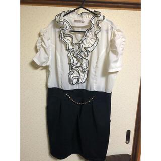 大きいサイズ ワンピース ドレス 結婚式 キャバ 二次会 ミニワンピ ミニドレス
