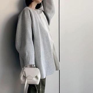 louren ローレン volum tack cocoon coat