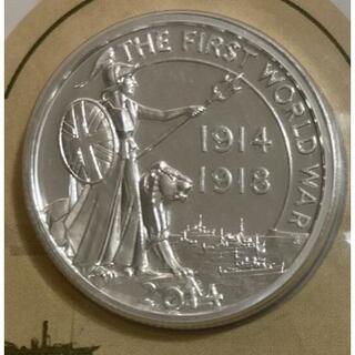 2014年英国 ブリタニア 20ポンド銀貨 純銀15.71g 未開封カードケース