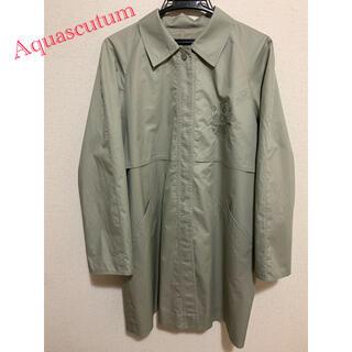 アクアスキュータム(AQUA SCUTUM)のAquascutum ステンカラーコート 80s 90s 刺繍ロゴ(ステンカラーコート)