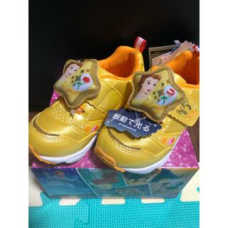 ディズニー(Disney)の新品タグ付き プリンセス  ベル 光る靴 スニーカー(スニーカー)