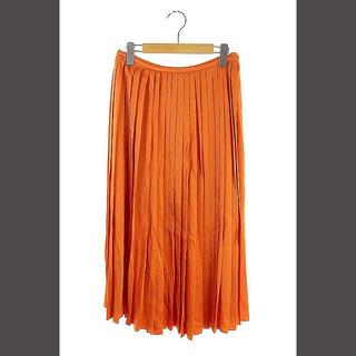 フェンディ(FENDI)のフェンディ FENDI プリーツスカート フレア ロング サイドスリッド 40(ロングスカート)