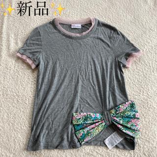 レッドヴァレンティノ(RED VALENTINO)の新品✨ RED VALENTINO おリボンTシャツ/ エストネーション(Tシャツ(半袖/袖なし))
