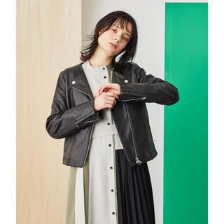 STUDIOUS - 【美品】UNITED TOKYO  セミダブルシープレザーライダースジャケット