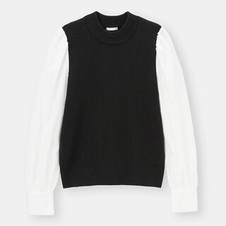 GU - gu シャツスリーブコンビネーションセーター Mサイズ