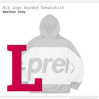 Supreme - supreme big logo hooded sweatshirt  L