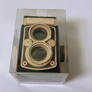 カルディ レフレックスカメラ 木箱 木製  ブラック 黒  チョコ KALDI(菓子/デザート)