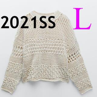 ZARA - *2021SS*ZARA テクスチャーニットセーター