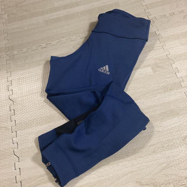 adidas(アディダス)の1.新品 アディダス ランニングスパッツ レディース Sサイズ ネイビー レディースのレッグウェア(レギンス/スパッツ)の商品写真
