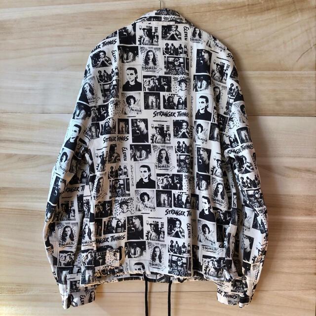 新品 ストレンジャーシングス デニムジャケット ホワイト  メンズのジャケット/アウター(Gジャン/デニムジャケット)の商品写真