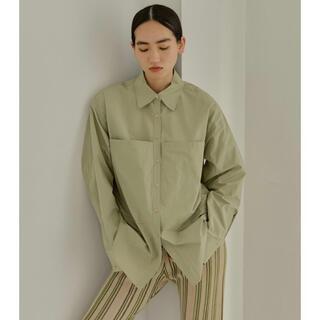TODAYFUL - todayful トゥデイフル タフタポケットシャツ ライトグリーン