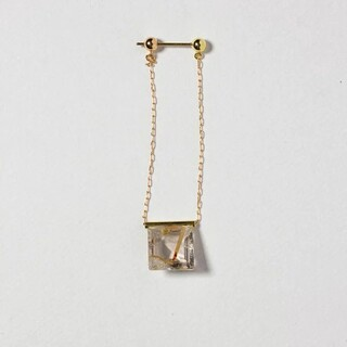 H.P.FRANCE - MONAKA jewelleryモナカゴールデンルチルクォーツピアス 片耳用
