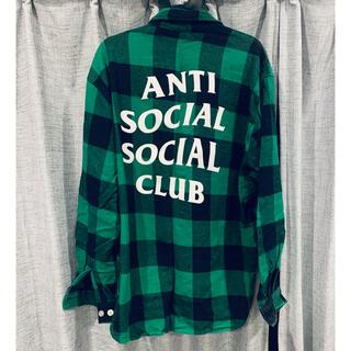 Supreme - ネルシャツL アンチソーシャルソーシャルクラブ