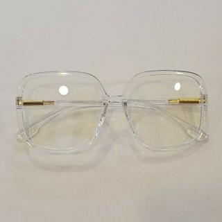 【ビッグサイズ】クリアグラス クリアメガネ ブルーライトカット 大きめ 韓国