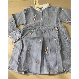 キッズ 新品 刺繍 女の子 ワンピース 120