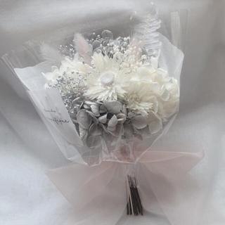 ピンクグレー系 ドライフラワー 花束 ブーケ スワッグ ギフト (ドライフラワー)
