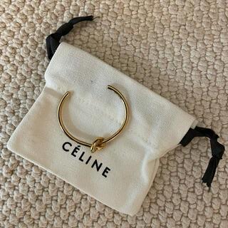 celine - CELINE ノット エクストラシンブレスレット ゴールドフィニッシュ ブラス