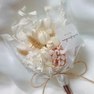 ベージュ系 ドライフラワー 花束 ブーケ スワッグ ギフト (ドライフラワー)
