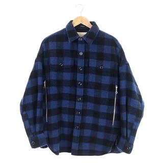 アールサーティーン(R13)のアールサーティーン R13 チェックシャツジャケット S 青 黒 /KN ■OS(その他)