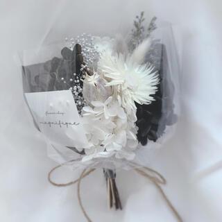 モノトーン ドライフラワー 花束 ブーケ スワッグ ギフト (ドライフラワー)
