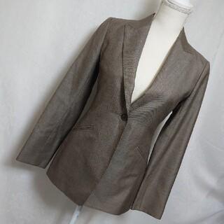 ボッシュ(BOSCH)の美品 ボッシュ 大人っぽい長袖テーラードジャケット ブラウン サイズ36、9号(テーラードジャケット)