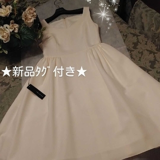 FOXEY - FOXEY★フィット&フレアー ワンピース ドレス★ホワイト40★新品・タグ付き