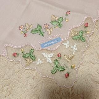 WEDGWOOD - 《未使用》WEDGWOOD 刺繍 ハンカチ