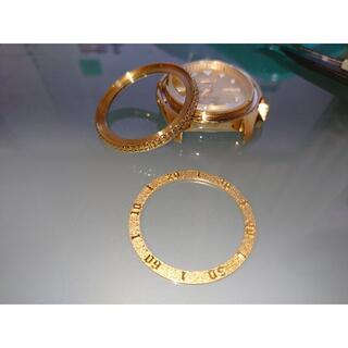 セイコー(SEIKO)の新品外し セイコーSRPE74K1 ベゼルインナー 金属製ゴールド(腕時計(アナログ))